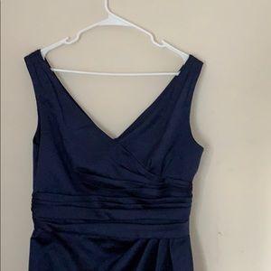 David's bridal navy dress, s12